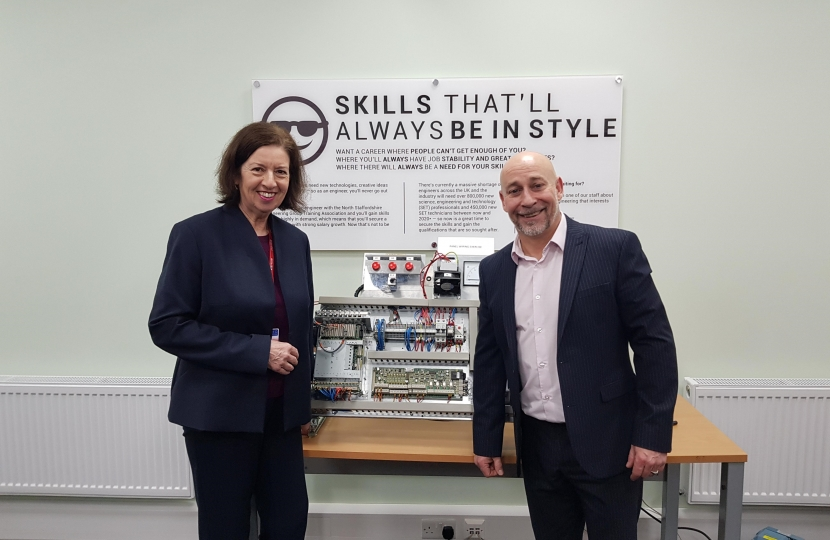 Jo visits North Staffs Engineering Group