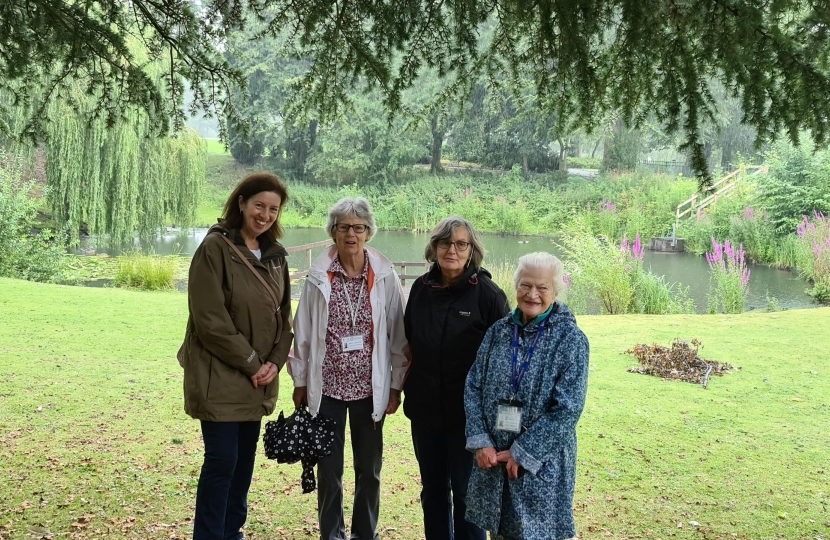 Jo joined the Closer to Home Walking Group on their weekly walk around Hanley Park
